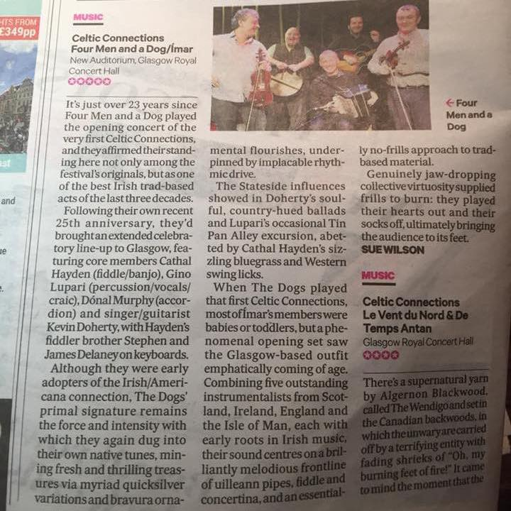 Celtic Connections Five Star Review